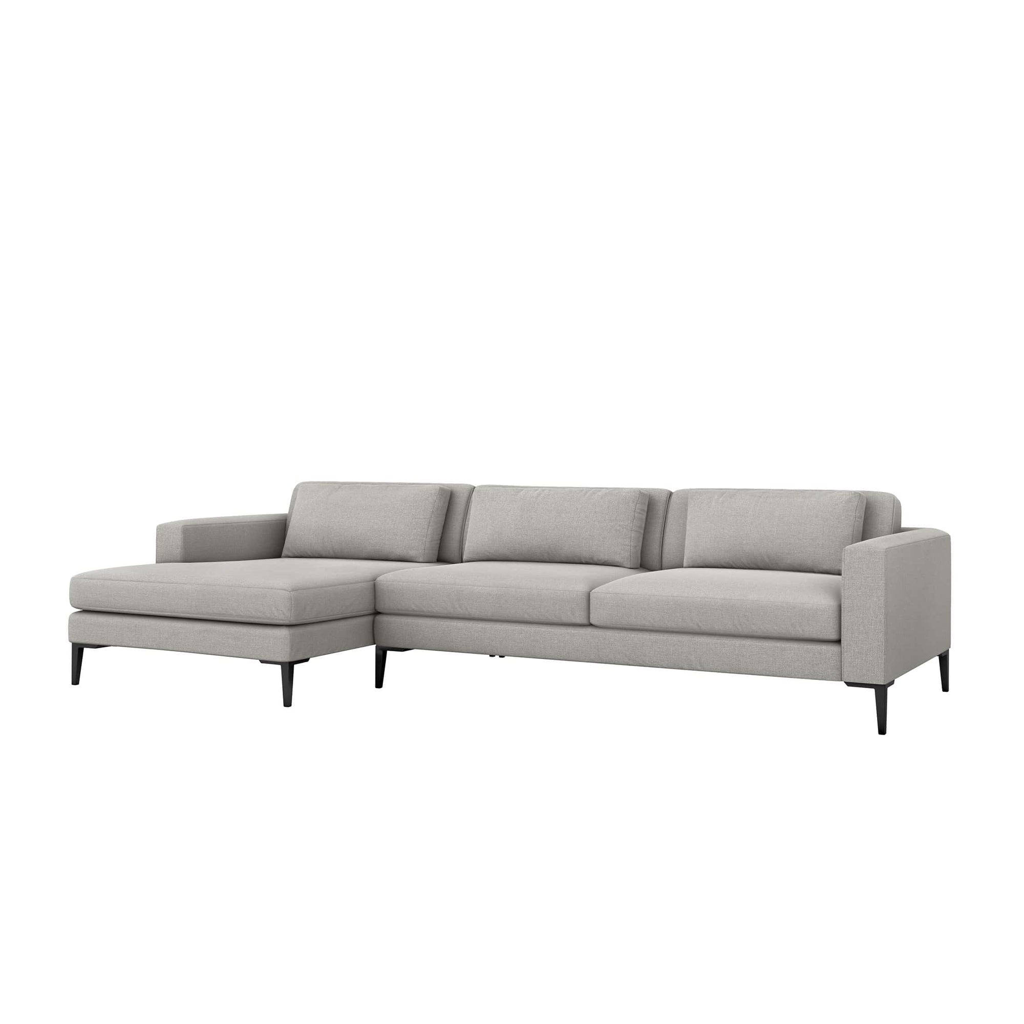 Interlude Home Interlude Home Izzy Left Chaise 2 Piece Sectional - Light Gray 199015-6