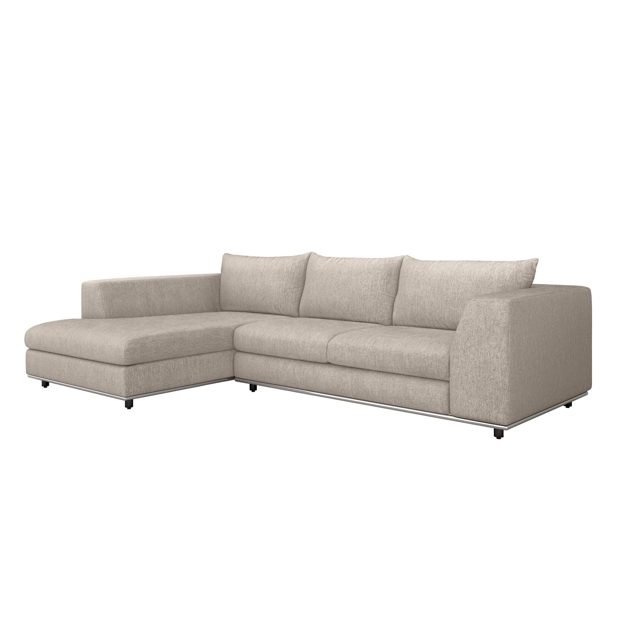 Interlude Home Interlude Home Comodo Left Chaise 2 Piece Sectional - Light Brown 199018-2