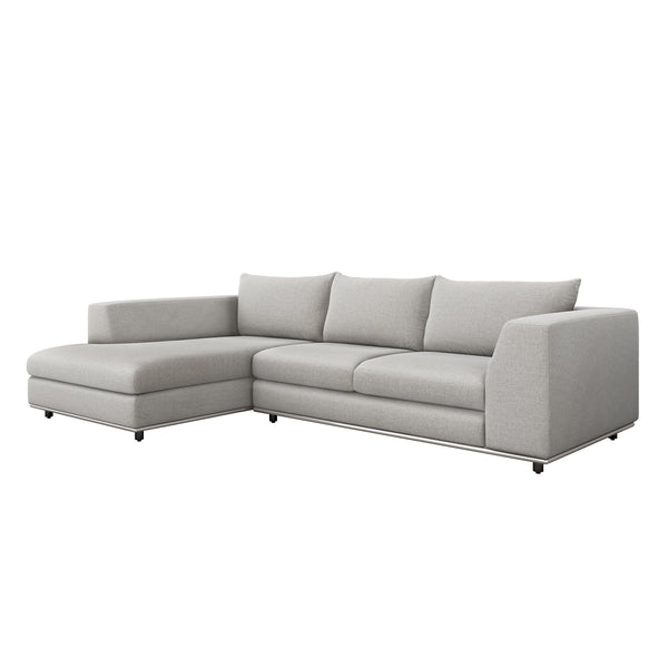 Interlude Home Interlude Home Comodo Left Chaise 2 Piece Sectional - Light Gray 199018-6