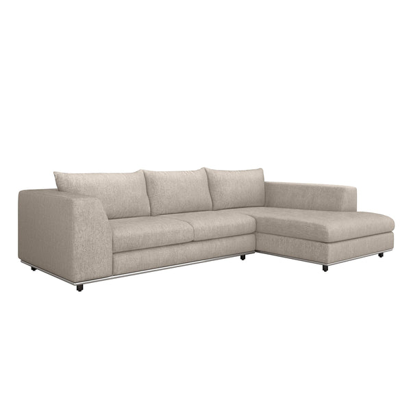 Interlude Home Interlude Home Comodo Right Chaise 2 Piece Sectional - Light Brown 199019-2