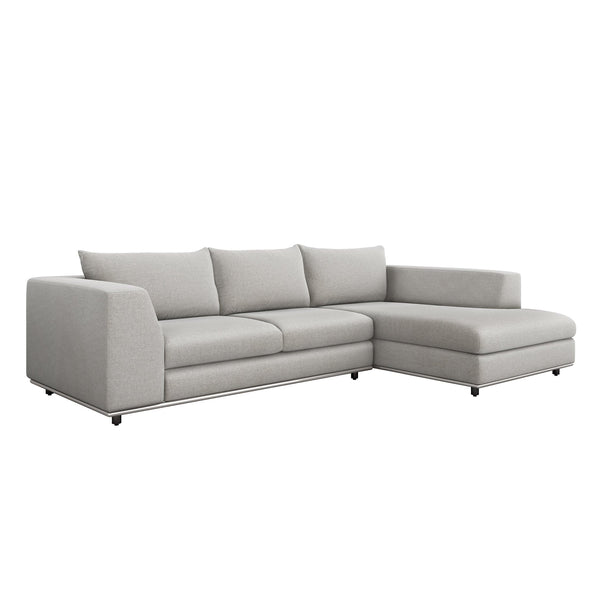 Interlude Home Interlude Home Comodo Right Chaise 2 Piece Sectional - Light Gray 199019-6