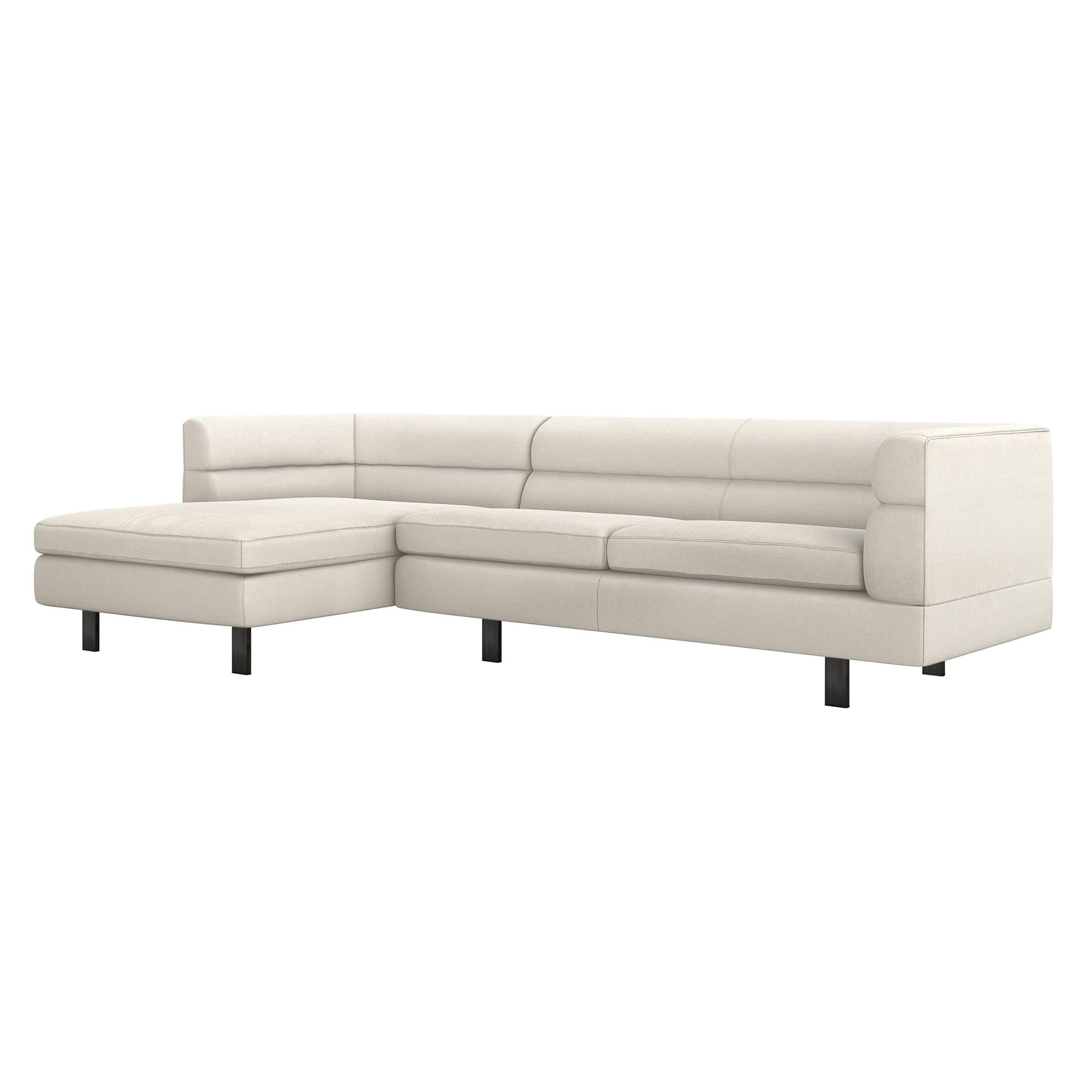 Interlude Home Interlude Home Ornette Left Chaise 2 Piece Sectional - Ivory 199022-1