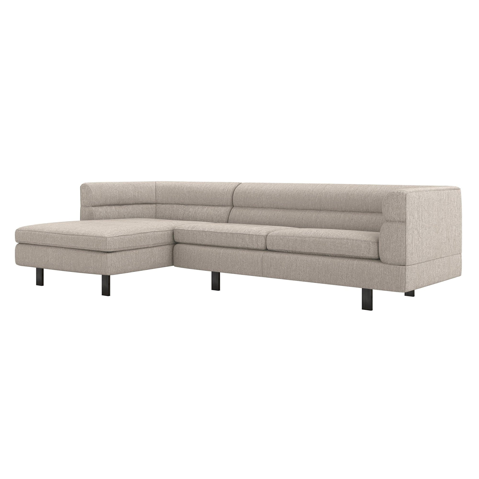 Interlude Home Interlude Home Ornette Left Chaise 2 Piece Sectional - Light Brown 199022-2