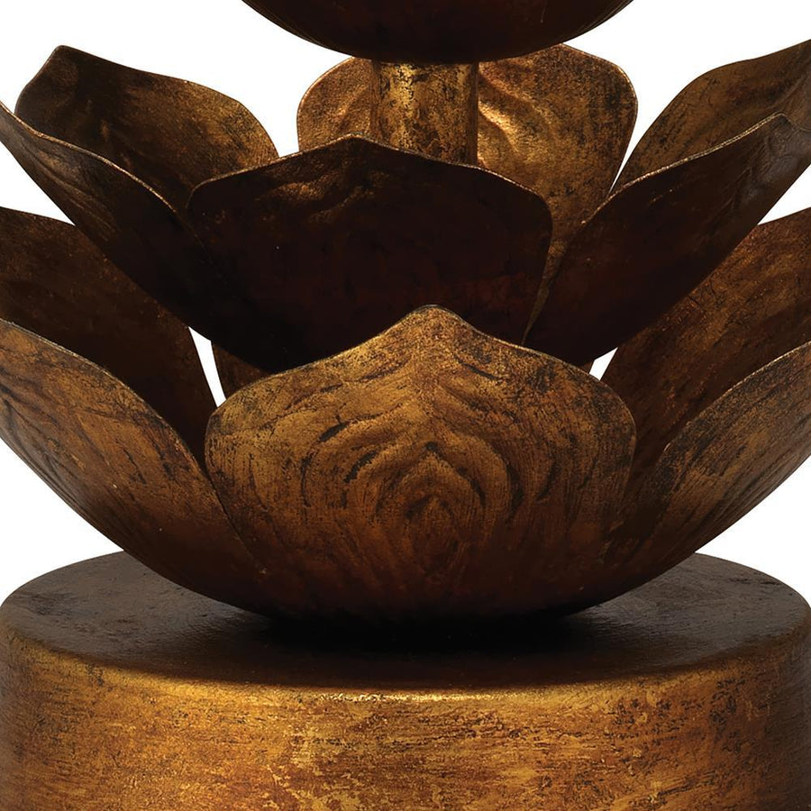 Jamie Young Flowering Lotus Table Lamp in Antique Gold