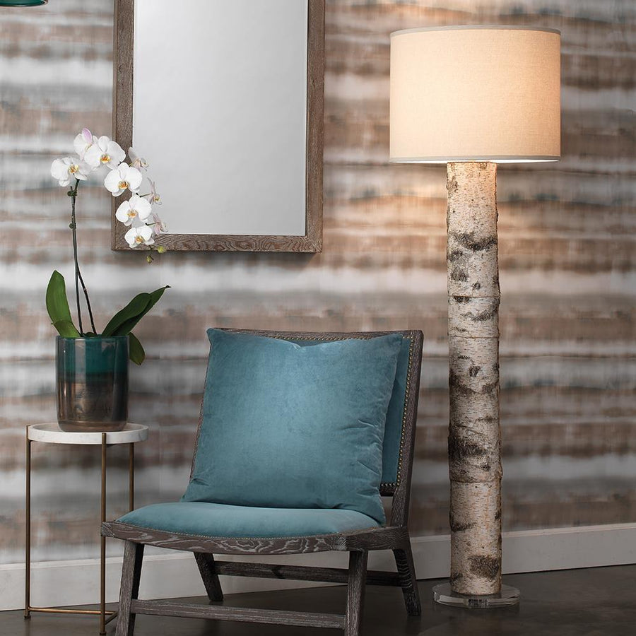 Jamie Young Forester Floor Lamp in Birch Veneer