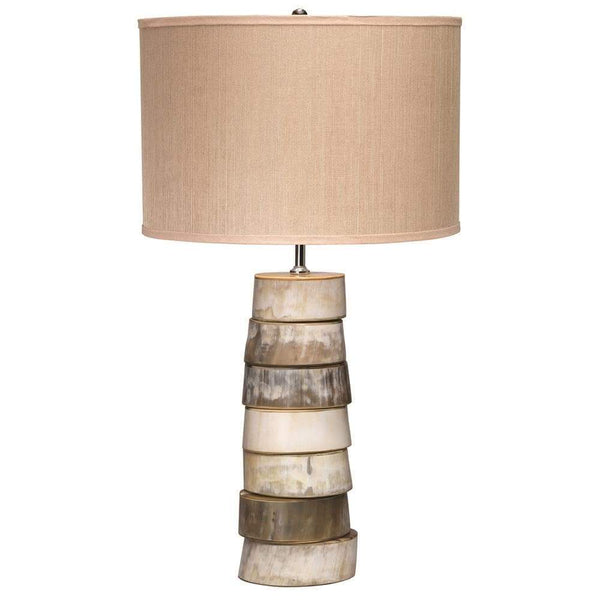 Jamie Young Stacked Horn Table Lamp in Horn