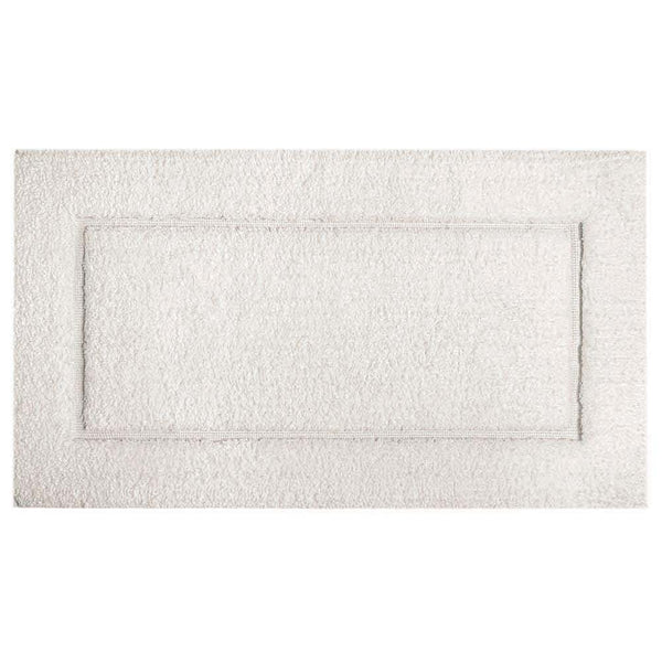 "Graccioza Graccioza Linen Duo Bath Rug - White - Available in 2 Sizes 20"" x 31"" 311478120003"