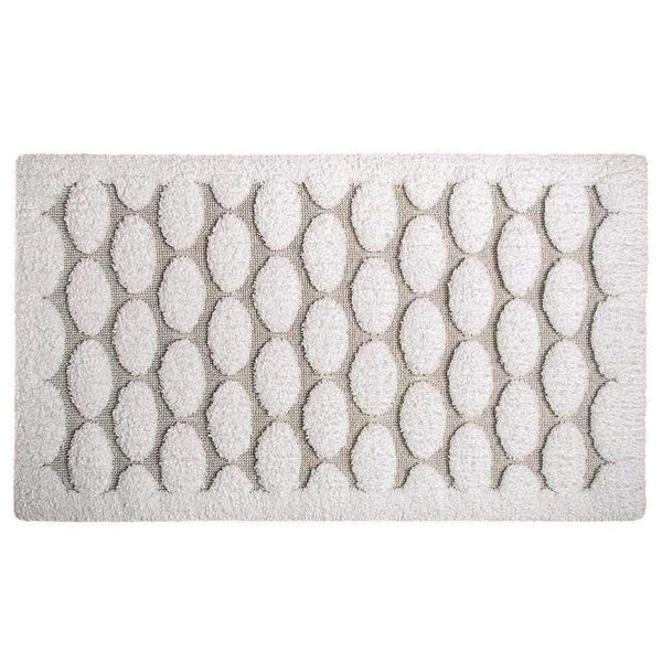 "Graccioza Graccioza Petalo Bath Rug - White - Available in 2 Sizes 20"" x 31"" 311463120003"