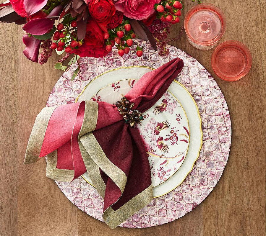 Kim Seybert Jaal Placemat in Plum - Set Of 4