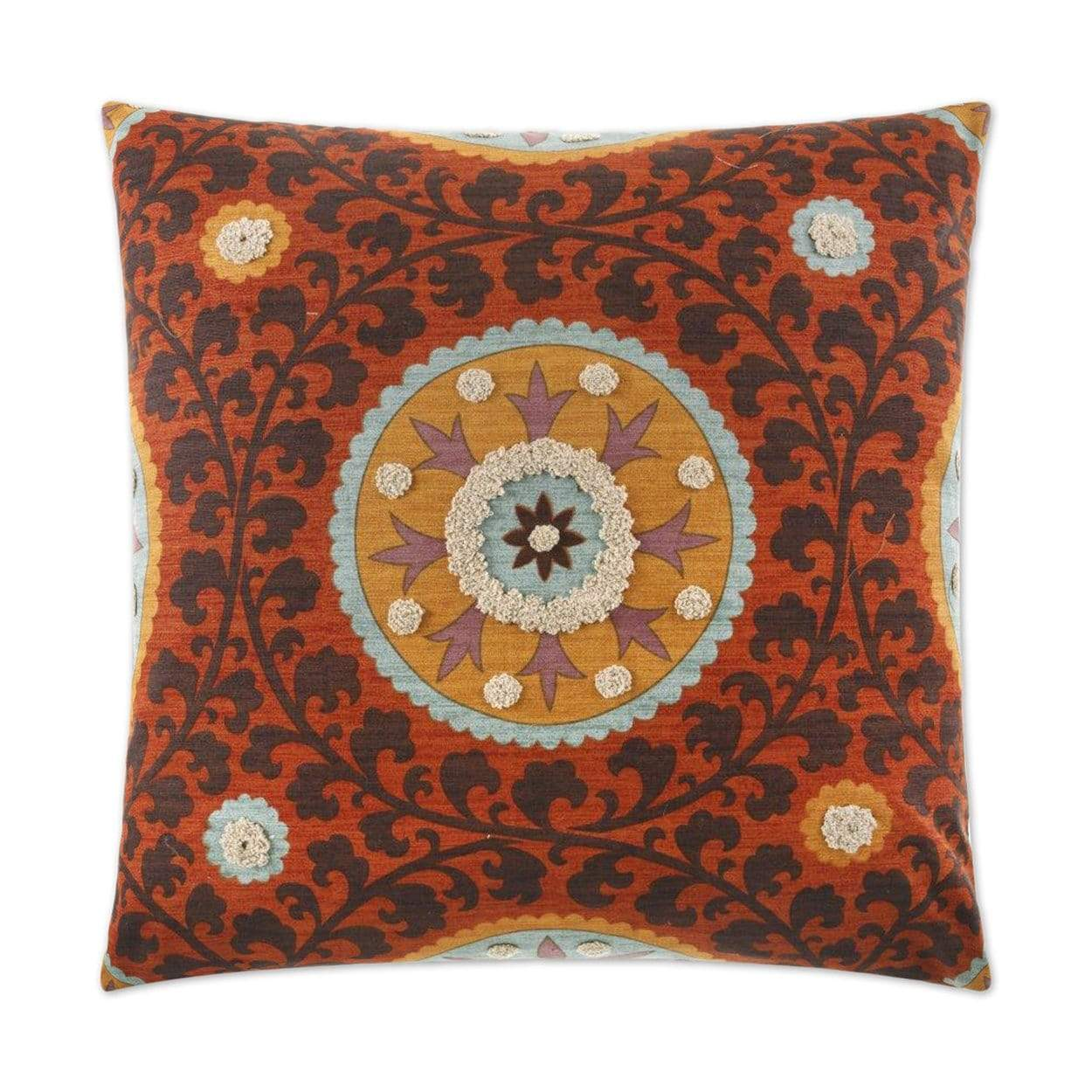 D.V. Kap D.V. Kap Tribal Thread Pillow - Available in 2 Colors Blue 2077-B