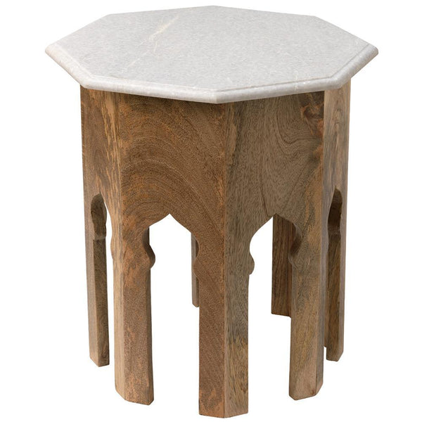 Jamie Young Jamie Young Atlas Side Table in White Marble 20ATLA-STWH