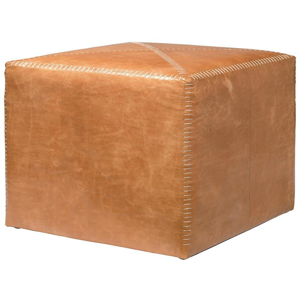 Jamie Young Jamie Young Large Ottoman in Buff Leather 20OTTO-LGLE