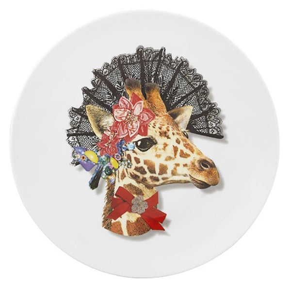 Love Who You Want Doa Jirafa Dessert Plate by Christian Lacroix