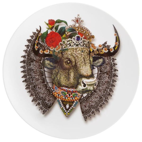 Love Who You Want Queenbull Dessert Plate by Christian Lacroix
