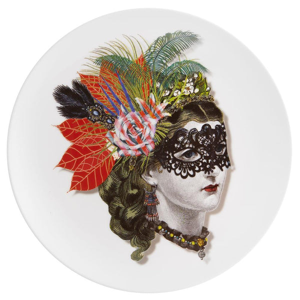 Love Who You Want Mamzel Scarlet Dessert Plate by Christian Lacroix