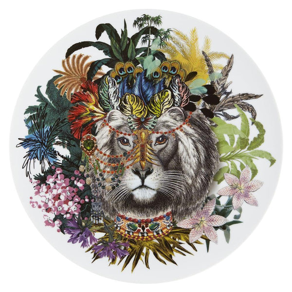 Love Who You Want Jungle King Charger Plate by Christian Lacroix