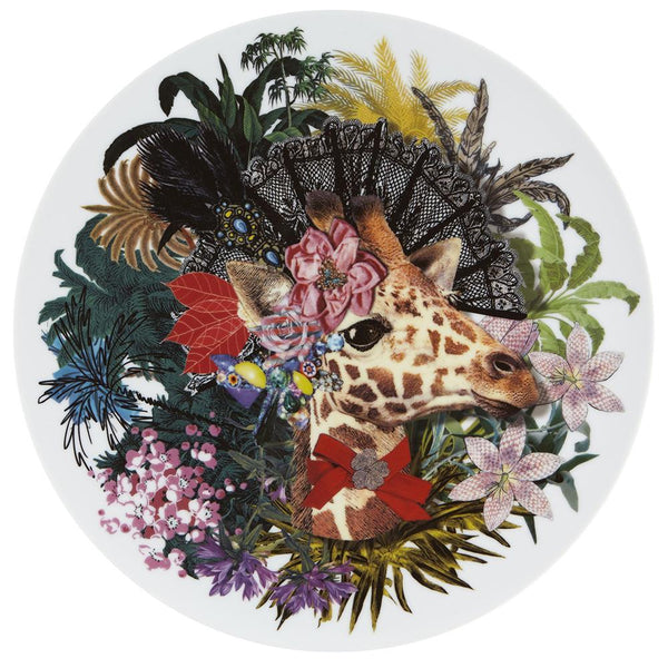 Love Who You Want Jungle Doa Jirafa Charger Plate by Christian Lacroix