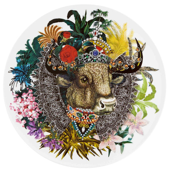 Love Who You Want Monseigneur Bull Charger Plate by Christian Lacroix