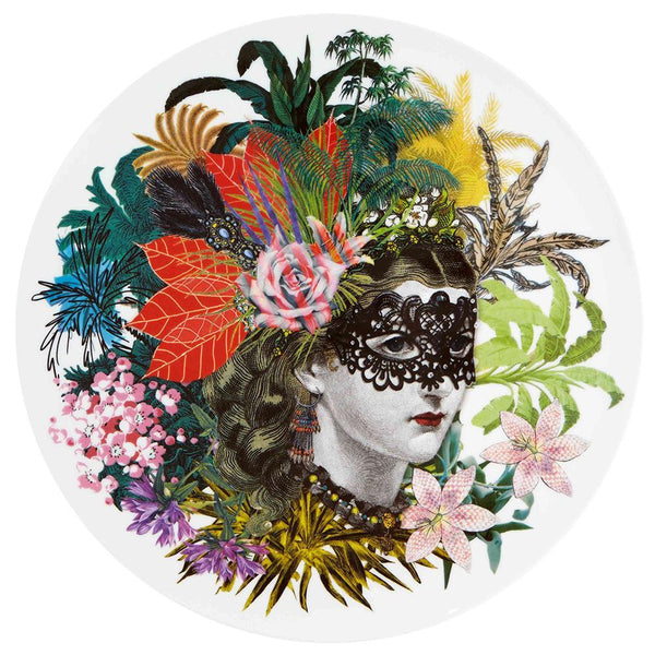 Love Who You Want Mamzelle Scarlet Charger Plate by Christian Lacroix