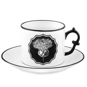 Vista Alegre Vista Alegre Christian Lacroix Herbariae Tea Cup and Saucer - 3 Available Colors White/Black 21133511