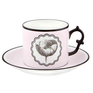 Vista Alegre Vista Alegre Christian Lacroix Herbariae Tea Cup and Saucer - 3 Available Colors Pink 21133513