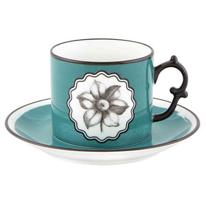 Vista Alegre Vista Alegre Christian Lacroix Herbariae Tea Cup and Saucer - 3 Available Colors Peacock 21133514