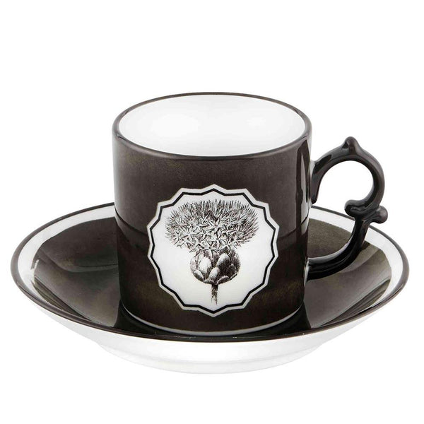Vista Alegre Vista Alegre Christian Lacroix Herbariae Espresso Cup and Saucer - 3 Available Colors Black/White 21133515