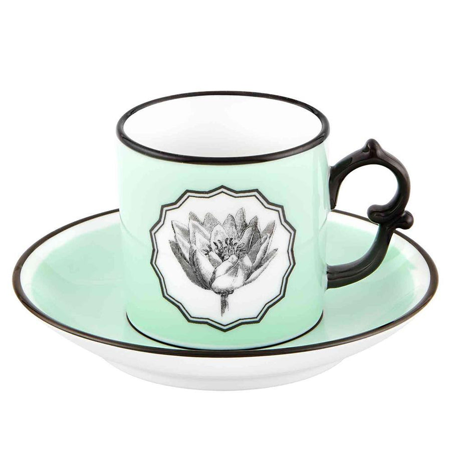 Christian Lacroix Herbariae Espresso Cup and Saucer - 3 Available Colors