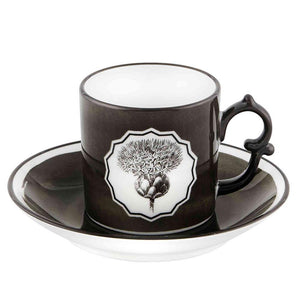Vista Alegre Vista Alegre Christian Lacroix Herbariae Set Of 2 Espresso Cup and Saucer - 2 Available Colors Black 21133532