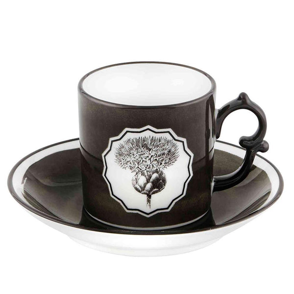 Christian Lacroix Herbariae Set Of 2 Espresso Cup and Saucer - 2 Available Colors