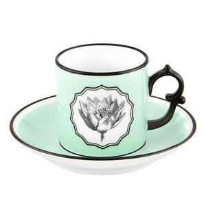 Vista Alegre Vista Alegre Christian Lacroix Herbariae Set Of 2 Espresso Cup and Saucer - 2 Available Colors Multi-colored 21133533