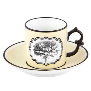 Vista Alegre Vista Alegre Christian Lacroix Herbariae Set Of 2 Espresso Cup and Saucer - 2 Available Colors
