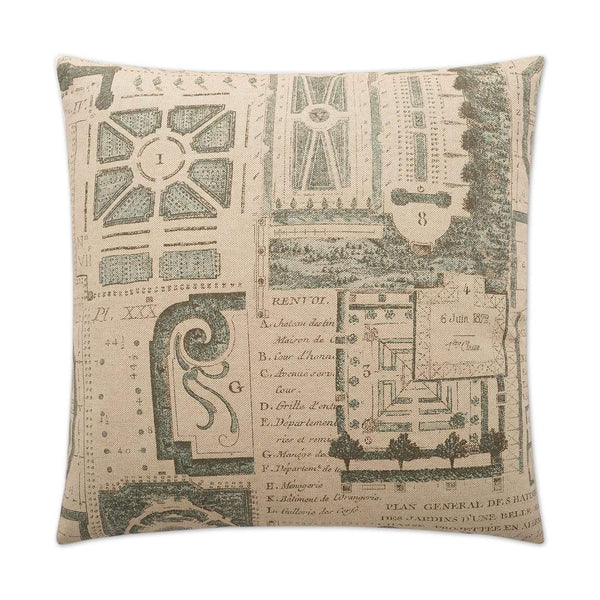 D.V. Kap Jardin Pillow - Available in 2 Colors | Alchemy Fine Home