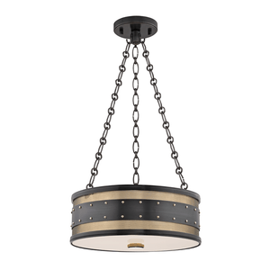 Hudson Valley Lighting Hudson Valley Lighting Gaines 3-Bulb Pendant - Aged Old Bronze & Clear Outside Frosted Inside 2216-AOB