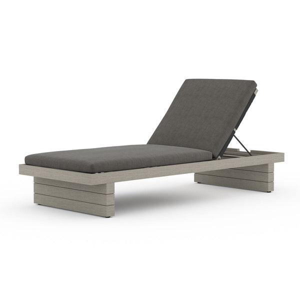 Four Hands Leroy Outdoor Chaise - Weathered Grey - Available in 5 Colors | Alchemy Fine Home