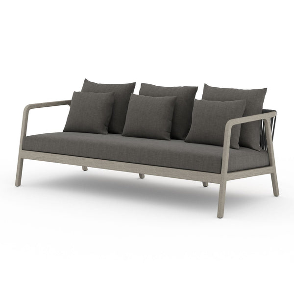 Four Hands Numa Outdoor Sofa - Weathered Grey - Available in 2 Colors | Alchemy Fine Home