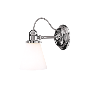 Hudson Valley Lighting Hudson Valley Lighting Hadley Vanity Lamp - Polished Nickel & Opal Glossy 2341-PN