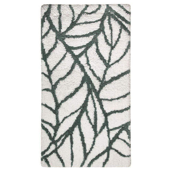 "Graccioza Graccioza Leaves Bath Rug - Green and White - Available in 2 Sizes 24"" x 39"" 311454110001"