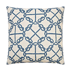 D.V. Kap D.V. Kap Knots Pillow - Available in 2 Colors Blue 2467-B