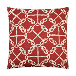 D.V. Kap D.V. Kap Knots Pillow - Available in 2 Colors Red 2467-R