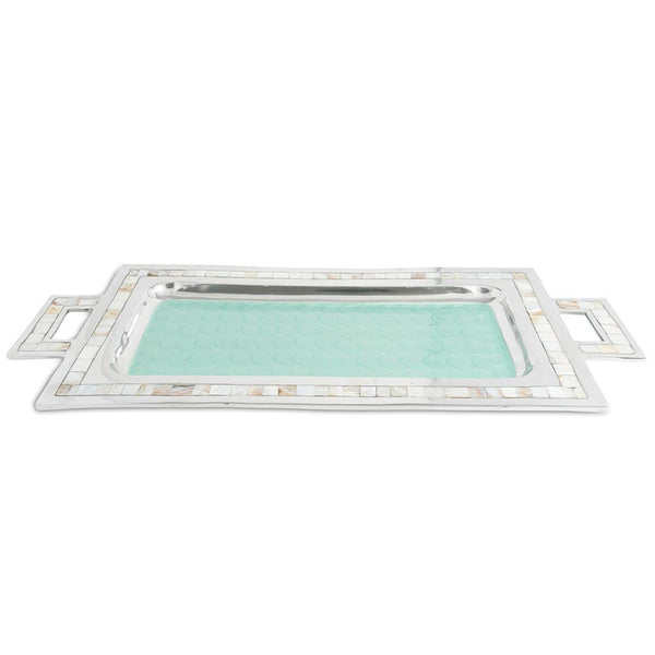 "Classic 25"" Rectangular Tray in Aqua"