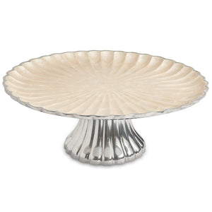 "Julia Knight Peony 14"" Cake Stand in Snow"