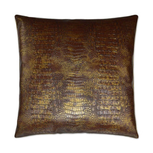 D.V. Kap D.V. Kap Gilded Gator Pillow - Available in 2 Colors Topaz 2822-T