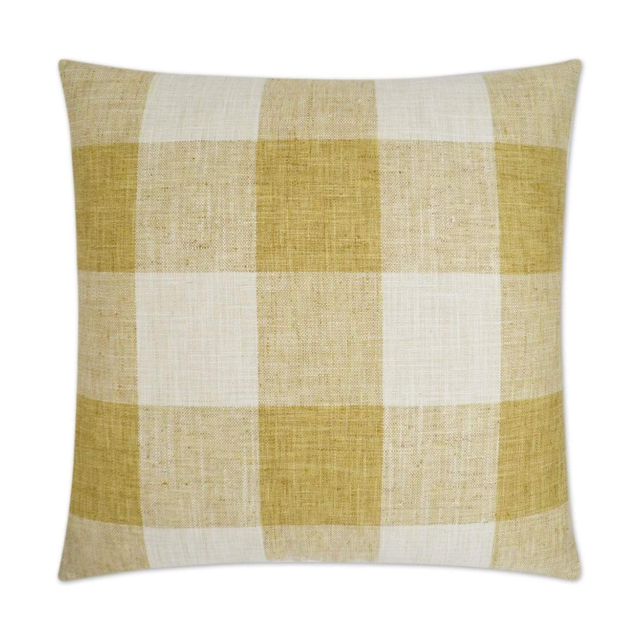 D.V. Kap D.V. Kap Check Please Pillow - Available in 3 Colors Yellow 3174-Y
