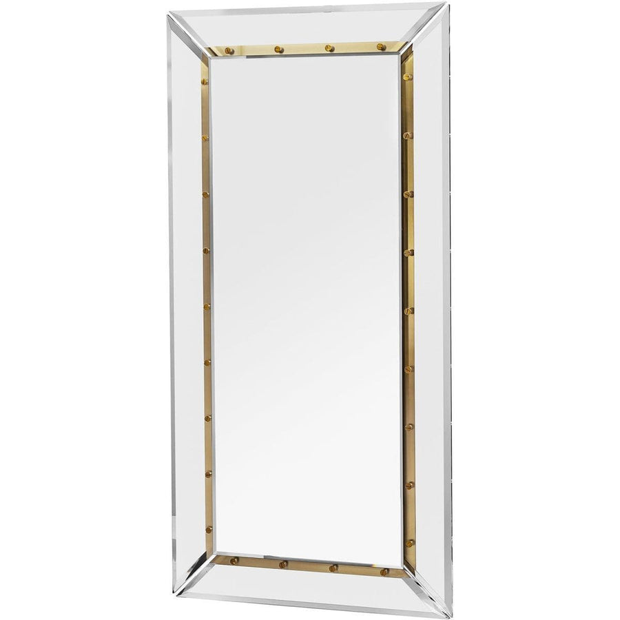 Interlude Home Interlude Home Holden Occasional Mirror - Clear - Brushed Brass - Plain Mirror 318043