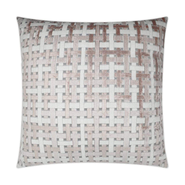 D.V. Kap D.V. Kap Trellis & Lattice Velvet Pillow - Available in 2 Colors Blush 3221-B