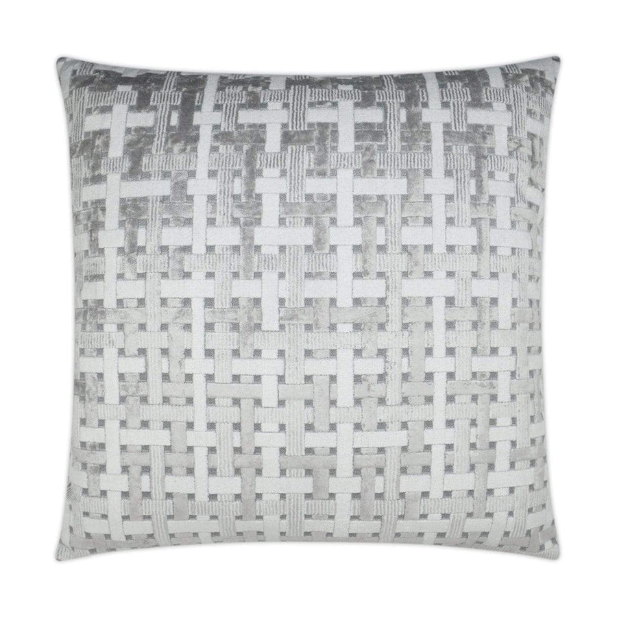 D.V. Kap Trellis & Lattice Velvet Pillow - Available in 2 Colors | Alchemy Fine Home