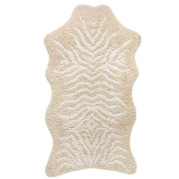 "Graccioza Graccioza Mountain Zebra Bath Rug - White & Natural 35"" x 59"" 310788110002"