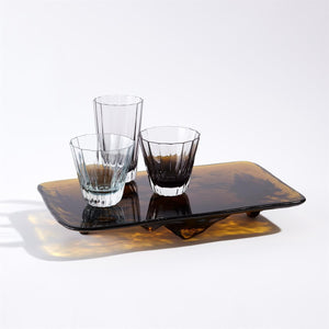 Global Views Global Views LiuLi Rectangular Glass Tray - Amber 8.82841