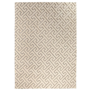 Global Views Global Views Tessellating Rug 9' x 12' - Ivory & Gray 9.93342